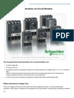 Fundamental Characteristics of Circuit Breaker