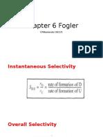 Chapter 6 Fogler