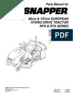 Snapper RPX200 parts list