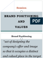 Brand positioning and CBBE