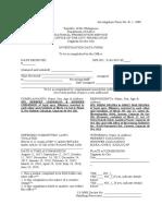 2. Investigation Data Form