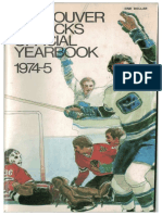 1974-75 Vancouver Canucks Yearbook / Media Guide