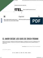 resumen EL AMOR DESDE LOS OJOS DE ERICH FROMM