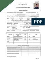 Form 09 01-02 APP for EMP CHRISTIAN GODINO