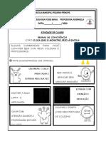 ATIVIDADE EDUCAÇAO INAFNTIL POUCO, MUITO E COMBINADOS