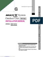 Multi v Plus II System - VRF LG - Manual de operação, instalação e manutenção
