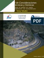 Manual de Consideraciones Geotecnicas y Sismicas tema:TALUDES