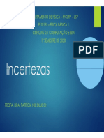 incertezas