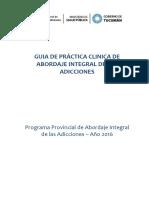 GUIA DE PRACTICA CLINICA DE ABORDAJE INTEGRAL DE LAS ADICCIONES