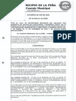 Acuerdo Nº 005 - 2020