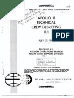 Apollo 11Tech Crew Debrief