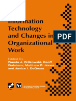 [IFIP Advances in Information and Communication Technology] Wanda J. Orlikowski, Geoff Walsham, Matthew R. Jones, Janice I. Degross (eds.) - Information Technology and Changes in Organizational Work_ Proceedings of the IFIP WG8.2 .pdf