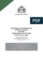 Guyana Parliament History 2009-1