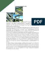 Tópicos y estudios para un proyecto vial