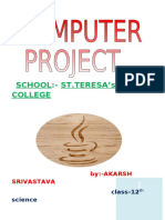 Computer project profile