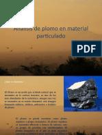 Análisis de plomo en material particulado