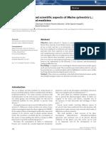 Ethnobotanical and scientific aspects of Malva sylvestris L.-