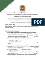 SMA 2304  ORDINARY DIFFERENTIAL EQUATIONS 1.docx