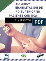 3RA VERSIÓN CURSO NEUROREHABILITACIÓN DE MIEMBRO SUPERIOR EN PACIENTE CON DCA