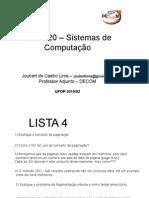 BCC 720 - Sistemas de Computacao - Lista 04 05 06 (2)