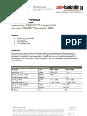 Hexion EPR-EPH 4908 Epoxy Resin | Epoxy | Materials