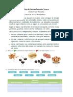 Guía de Ciencias Naturales Tercero alimentos unidad 3