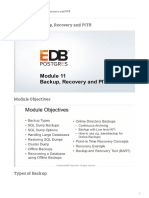 Module 11 - Backup, Recovery and PITR - Postgres Administration Essentials from EDB