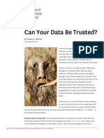 Can your data be trusted