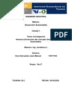 Historia Y evolucion del concepto Desarrollo sustentable