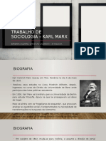 Trabalho de Sociologia – Karl marx