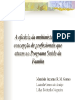 A eficácia da multimistura na concepcao de profissionais que atuam no PSF