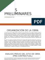 OBRAS PRELIMINARESS