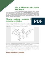 Cómo aprender a diferenciar entre ácidos húmicos y ácidos fúlvicos