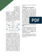 Cloud computing, caracteristicas y ventajas
