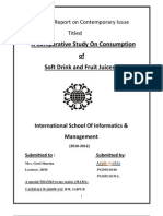 a comparitive study onsoft  Drink and fruit Juice
