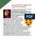 Firenze Dalla Repubblica Oligarchica Alla Signoria Dei Medici