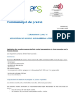 Coronavirus Codiv-19 - Application Des Mesures Annoncées Par Le Premier Ministre