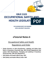 Sept 2018. XBLR3103. eTUTOR. OSH LEGISLATION