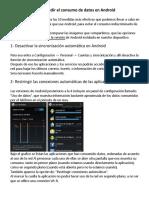10 medidas para impedir el consumo de datos en Android