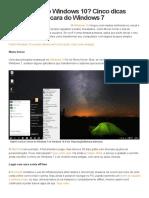 10 Cinco dicas deixam com a cara do Windows 7
