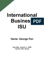 International Business ISU
