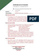 CRONOGRAMA DE ACTIVIDADES 1RA SALIDA
