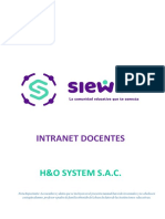 Manual SieWeb Intranet Docentes 2020 sin Registro