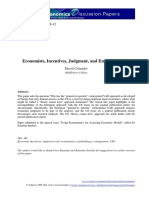 Economists, Incentives, Judgment, and Empirical Work