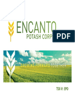 EPO Encanto Potash Corp 2010 Corporate Presentation Slides Deck PPT