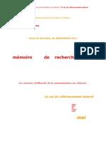Mémoire de communication sur internet
