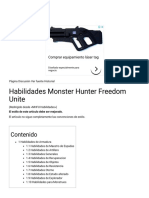 Habilidades Monster Hunter Freedom Unite - ElOtroLado