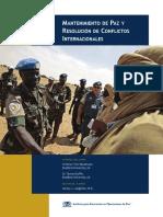 Mantenimiento de pa y conflictos internacionales