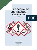 CLASIFICACIÓN DE LOS RIESGOS HIGIÉNICOS