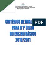 Critérios de Avaliação_2010_2011
